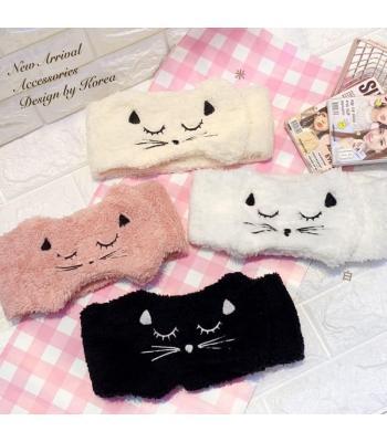 韓國代購 可愛貓咪洗臉或化粧?帶