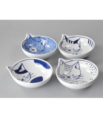 日本代購 neco可愛猫鉢4入組