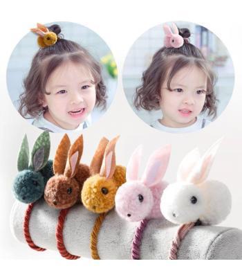 生活好物代購 可愛小兔子立體髮圈(五入)
